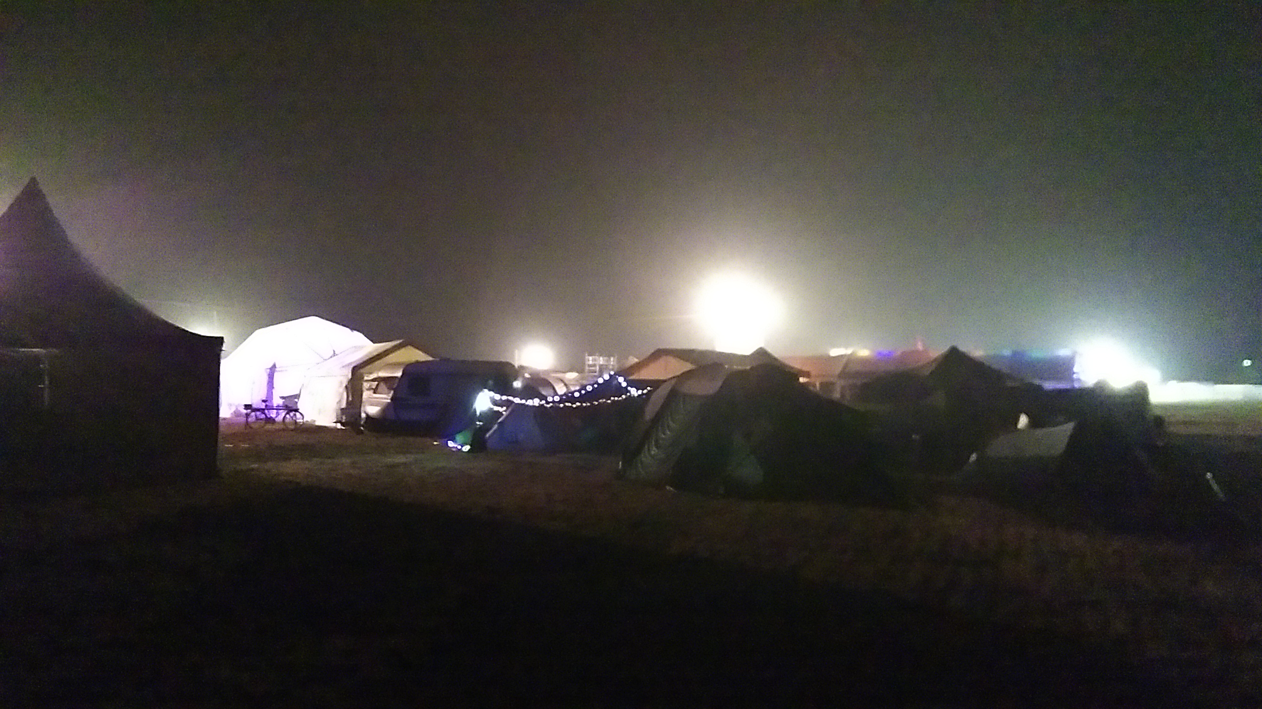 Campzone by night.