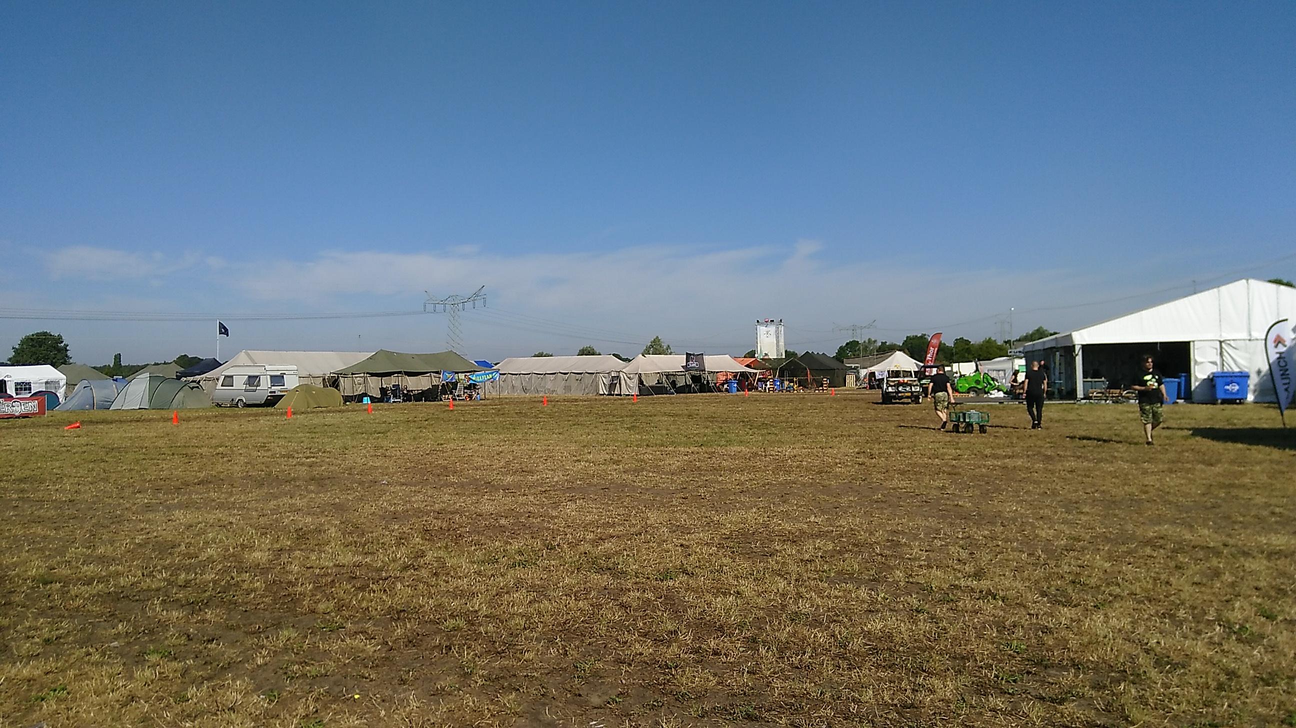 Het centrale veld van Campzone