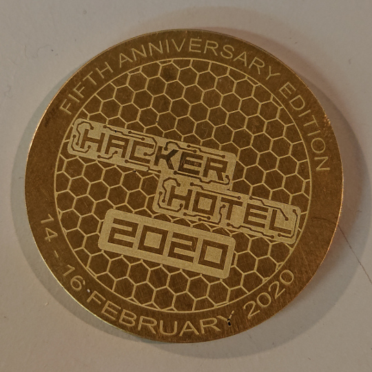 HackerHotel 2020 coin
