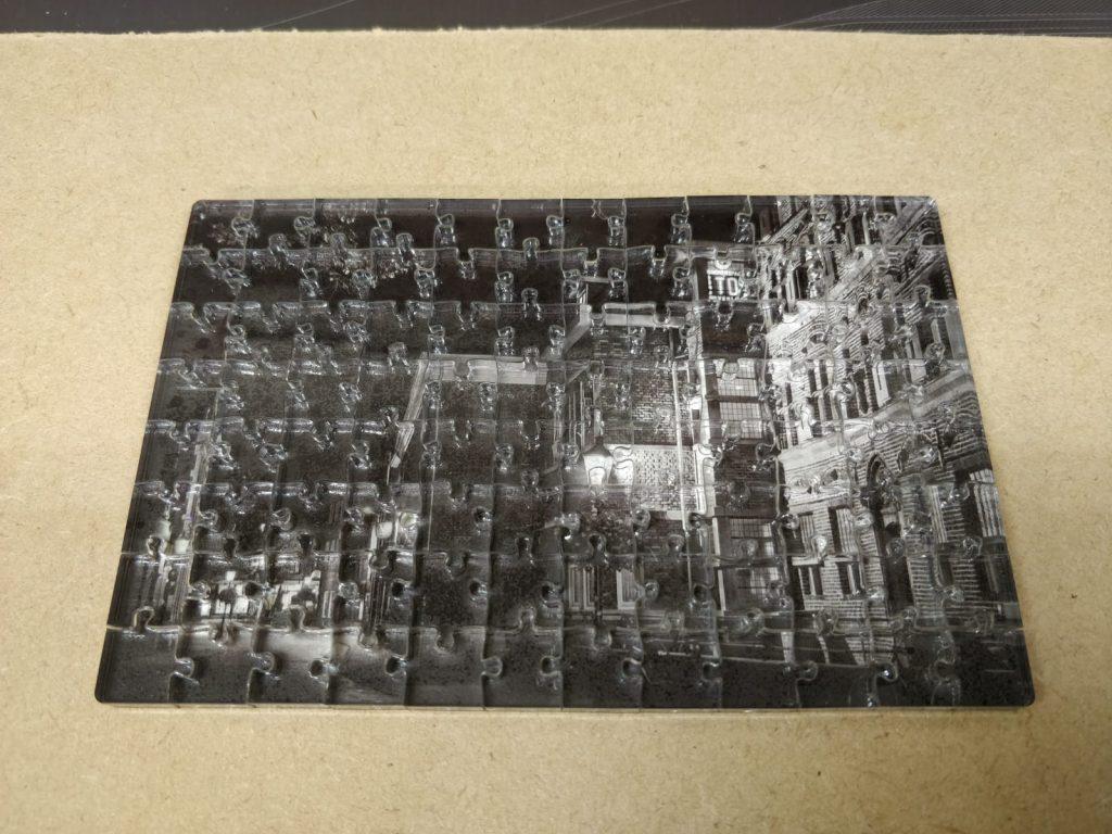 Legpuzzel van het Ald Weishoes, gemaakt met de lasersnijder